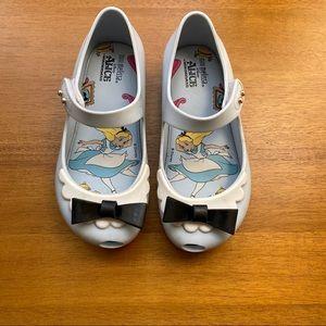 Mini Melissa Alicia and Wonderland shoes Sz10